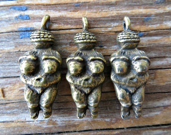 Venus of Willendorf Charms - (lot of 3)