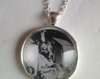 laika dog picture pendant
