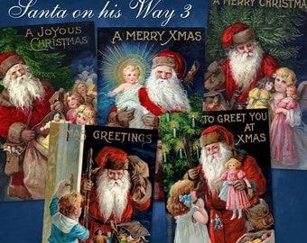 Santa on his Way 3 - Digital Download