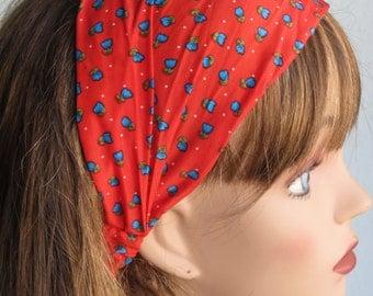 SALE Headband Woman Accessory Head Band Flower Print Woman Headband