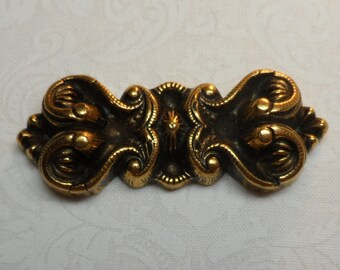 "Metalized vintage gold acrylic bar,2&1/4""x3/4"",1pc-KC44"