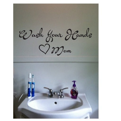 bathroom sink decals wall quote sign vinyl decal sticker sizes 11319