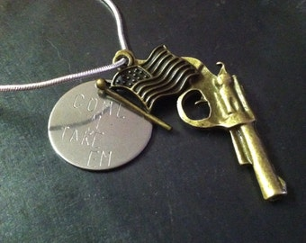 COME n TAKE EM necklace. Support the  2nd amendment and your rights