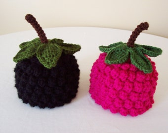 Adult Raspberry or Blackberry Hat - Teen, Woman, Man - Black, Raspberry Pink - Fruit, Berry, Harvest