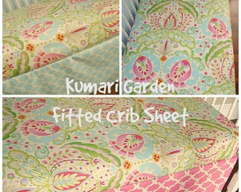Kumari Garden Fitted Crib Sheet Toddler Bedding