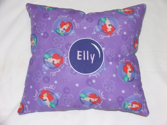 Personalized Little Mermaid Pillow