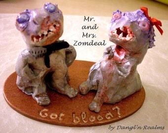 OOAK Zombie Couple: Mr. & Mrs. Zomdeal