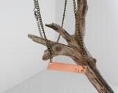 Customized Monagram Bar Necklace