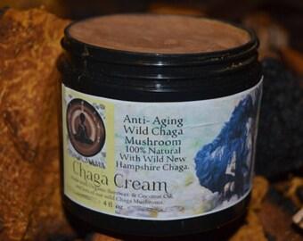 Chaga cream Made fresh to order Organic Bees wax Organic Chaga Organic Toner Cream chaga extract Made Fresh to Order 4 Ounce Jar Chaga mama