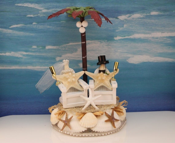 destination wedding cake toppers beach theme and groom starfish cake topper destination wedding 13502