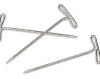 T Pins #28 and  #32 - 50 Pk - 800 Pk for Sewing and Slipcovers