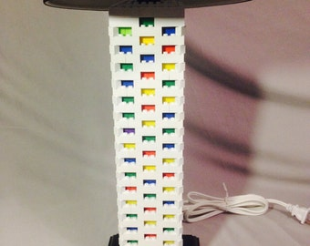 LEGO® Lamp - White & Multicolor Rainbow