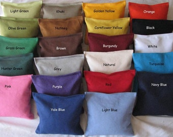 8 PLAIN CORNHOLE BAGS - You Choose 2 Colors
