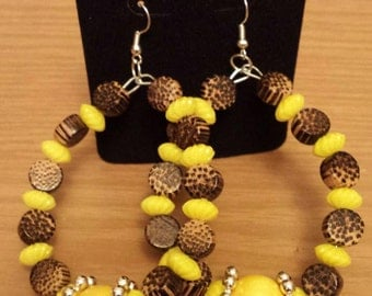 Love and Hip Hop and Basketball wives inspired wood yellow earring