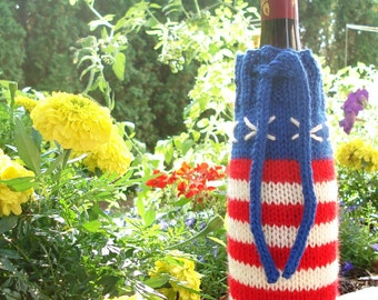 Stars and Stripes Wine Cozy