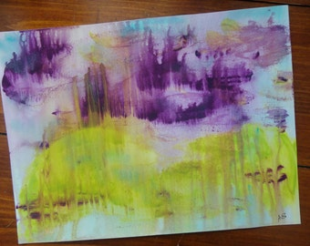 "Abstract Art Print  of Original Acrylic Painting Size 9""X12"""