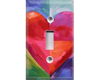 Big Heart Light Switch Cover