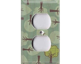 Nature Lover Collection - Doodle Trees Outlet Cover