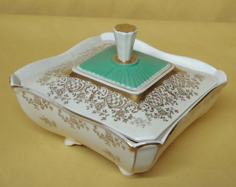 Vintage CANDY DISH with Lid, Weimar Porcelain, Model Marita, since 1799 in Germany