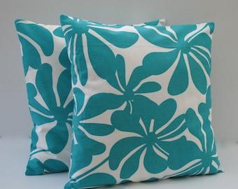 1 Premier prints turquoise floral pillow cover, cushion, 18x18, decorative throw pillow, decorative pillow, home decor
