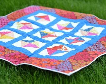 Primary Color Scrappy Baby Quilt