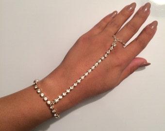 Crystal Path - Swarovski crystal hand chain