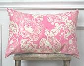 Pink Fuschia Modern Floral Pillow Cover 12 x 18