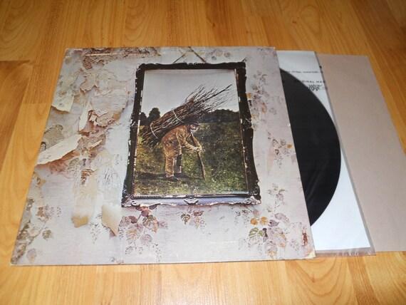 Led Zeppelin Iv Ruins Zoso Vinyl Record Lp Smas 94019 Record