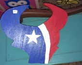 Houston Texans Sign Hand Crafted Hand Painted