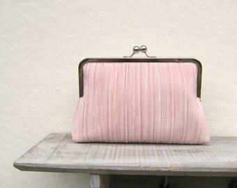 Blush clutch, great gatsby clutch, blush bridal clutch, pleated clutch, blush bridesmaid clutch, dusky pink clutch purse, downton abbey