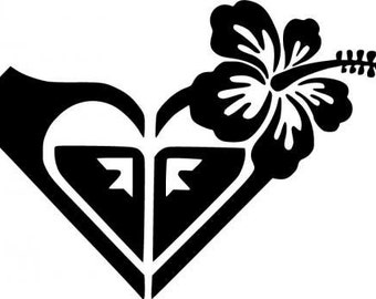 Roxy Hibiscus Flower Car Decal
