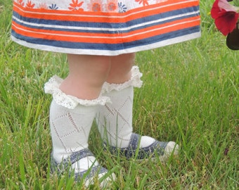 Baby Boot Socks with Lace - Baby Gift Idea! - Bobby Socks