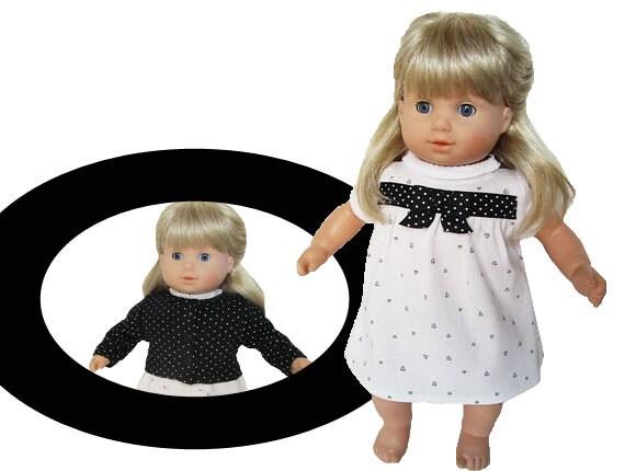 14 or 15 inch doll dress and jacket / Bitty by kkdesignerdolls