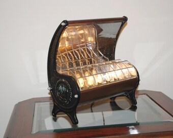 Vintage Radia Floor Heater Table Lamp