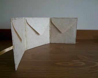 CD Case, Wedding Cd Case, 3 CD Holder, Ribbon / Envelope Design.