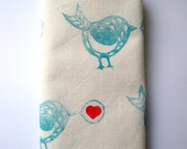 SALE Hand-printed organic tea towel