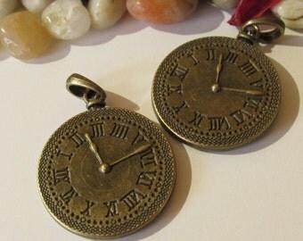 D-02115 - 2 Pendant Clock XXL antique bronze