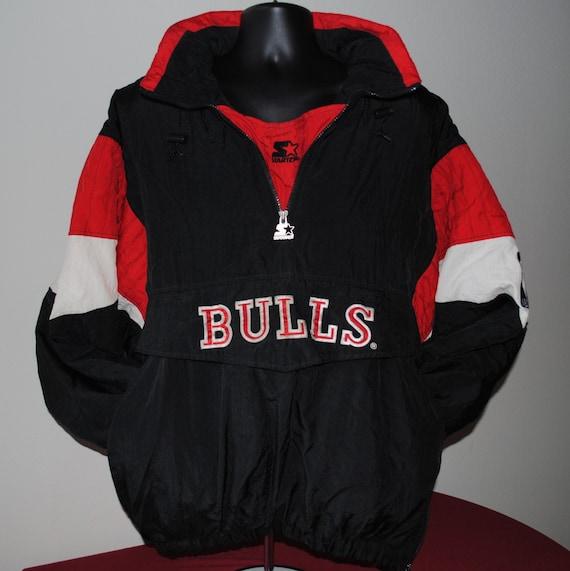 90 39 s chicago bulls nba pullover starter jacket xl. Black Bedroom Furniture Sets. Home Design Ideas