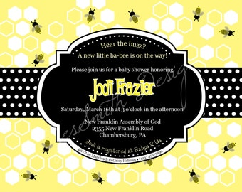 Bumble Bee Printable Shower Invitations