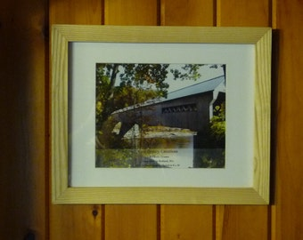 """Hand Made Ash Wood Picture Frame - 11"""" x 14"""" frame"""