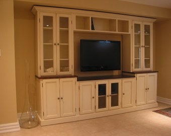 White TV Wall Unit / Entertainment Unit / TV Stand