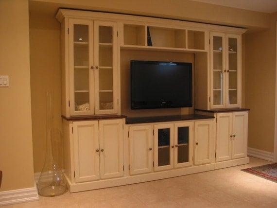 White TV Wall Unit / Entertainment Unit / TV Stand
