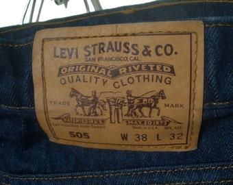 Vintage Levi's Orange Tab Denim Jeans 38 x 32