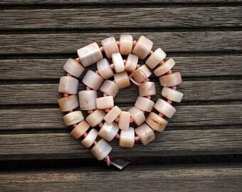 Pink Opal 6-16mm triangular prism beads (ETB00636)