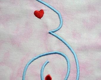 Pregnant Embroidery Design