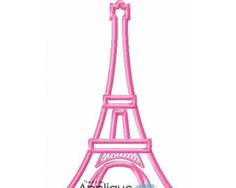 Eiffel Tower Applique Design