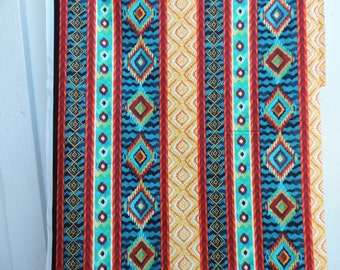 Large stripe in Native American design with southwest colors.
