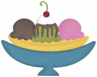 QuicKutz die 4X4 BANANA SPLIT Ice Cream
