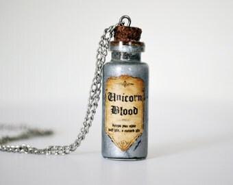 Harry Potter Inspired Potion Bottle Necklace: Unicorn Blood