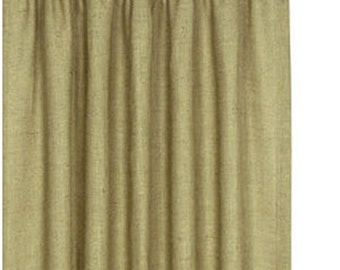 Burlap window curtain panels 72 Inches X 58 Inches. Made in USA